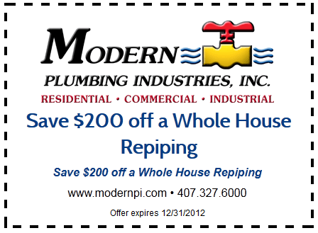 House Repiping | Orlando | Modern Plumbing Industries, Inc.