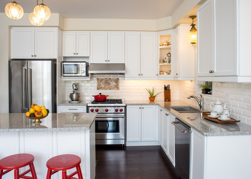 How To Save Water In The Kitchen » Professionally Designed New White Kitchen  With Touch Of Retro Style